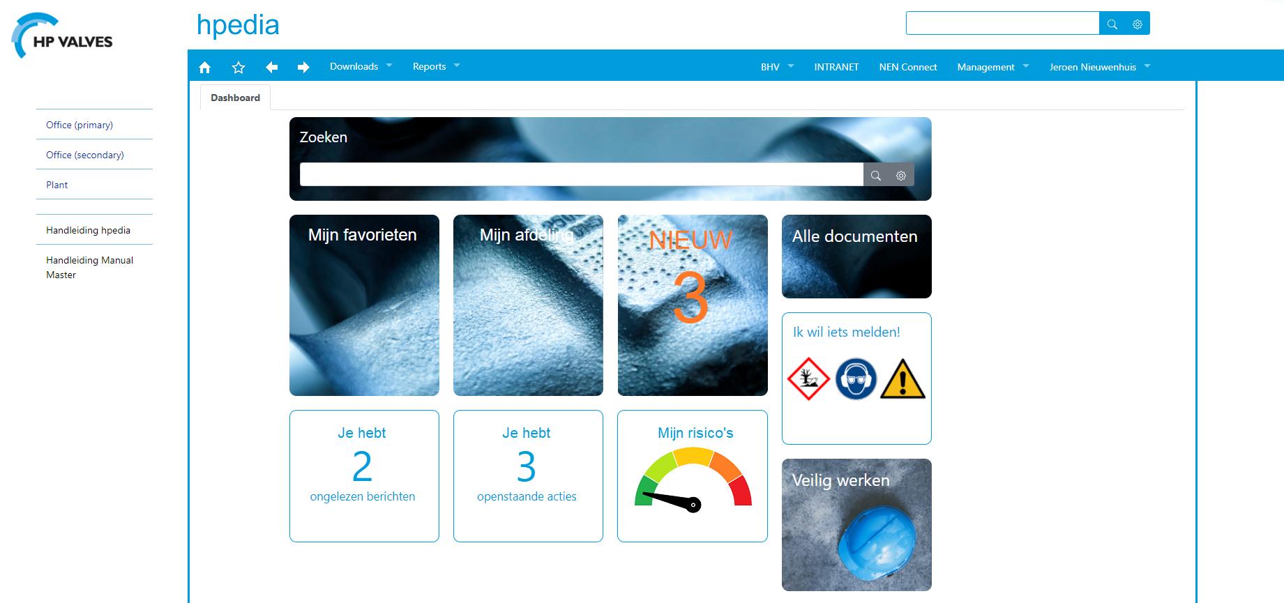 Startpagina Hpedia HP Valves